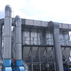 Filtration unit protected against explosion